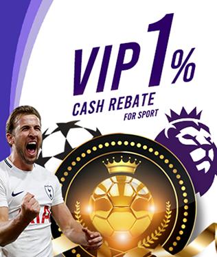 Sports Betting VIP 1% Cash Rebate